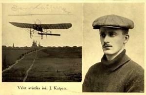 1. let aeroplánu nad Olomoucí